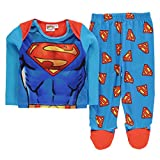 Character Ragazzi Pigiama Set Unisex Cotone Manica Lunga Top Pantaloni Dormire Superman 0-3 Mnth