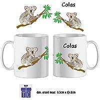 Texti-cadeaux-Mug Koala-personnalisé avec un prénom exemple Colas