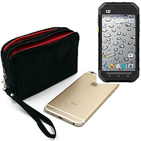 Belt Pack pour Caterpillar Cat S30, noir. Sac de Voyage, couverture protection body bag Étui housse ceinture. | Poche Outdoor Case camping - K-S-Trade (TM)