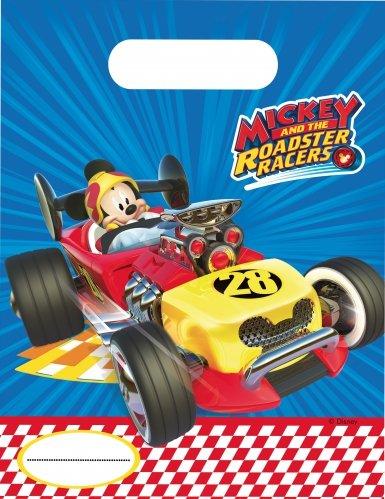 6 Partytüten * MICKEY ROADSTER * von Disney für Kindergeburtstag oder Motto-Party // Party Mitgebsel Geschenktüte Tüte Motto Mickey Maus Mouse Autos Rennautos Rennen