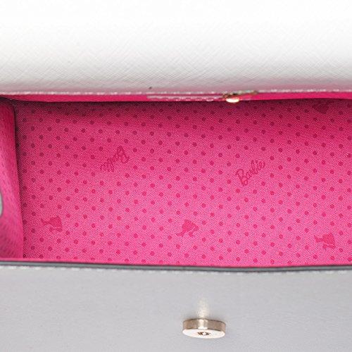 Barbie Borsa a tracolla e a spalla, in PU, da Donna Ragazza Bambina, Colore Nero, Bianco, #BBFB513 Bianco