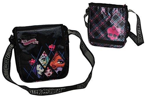 ultertasche Monster High abwischbar groß - Kindertasche Tasche Stoff Mädchen Kindergartentasche Tragetasche (Monster High W)