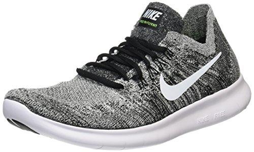 Nike Herren Laufschuh Free Run Flyknit 2018 Traillaufschuhe, Schwarz (Black/White/Volt 003), 43 EU (Nike Schuhe Herren Free Run)