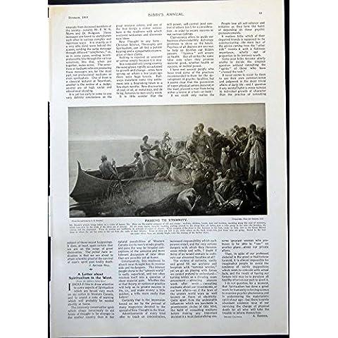 Imprima el Paso Al Líder 1910 019G368 del Bw de la Iglesia del Atardecer de los AE Emslie de la Eternidad