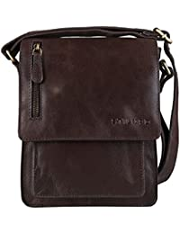 STILORD 'Finn' kleine Umhängetasche Herren Schultertasche Vintage Messenger Bag 8,4 Zoll Tablettasche echtes Büffel-Leder