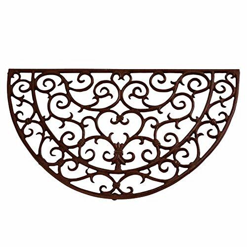 Esschert Design antik halbrund Türmatte, Gusseisen, braun, 69 x 40,5 x 2,3 cm