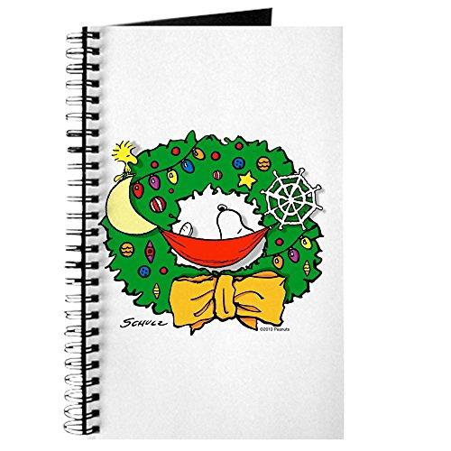 CafePress-Snoopy Weihnachten Kranz-Spiralbindung Journal Notizbuch, persönliches Tagebuch, blanko