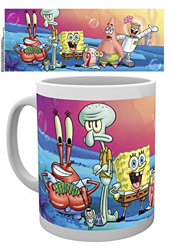 1art1 Set: Spongebob Schwammkopf, Group Foto-Tasse Kaffeetasse (9x8 cm) Inklusive 1x...