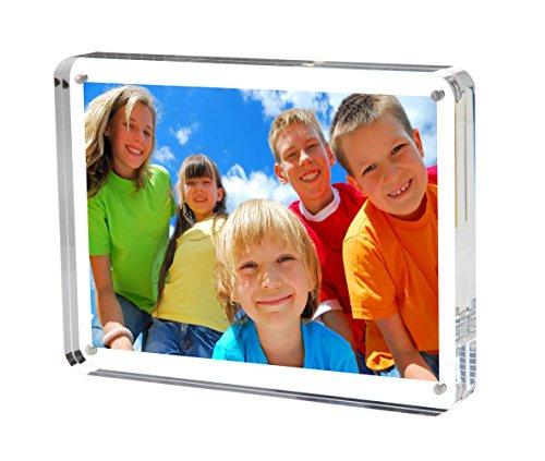 Cornice portafoto in acrilico trasparente niubee magnetica, Album fotografico personalizzabile Baby, confezione regalo (angoli arrotondati)