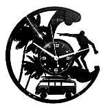 Instant Karma Clocks Horloge Murale en Vinyle Disque LP 33 Tours Idée Cadeau Vintage Handmade Instant Karma-Mare Vacanze-Voyage-Surf Silencieux