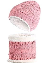 Tukistore Bambino Maglia cappello + sciarpa scaldacollo cappello invernale  caldo bambino in morbida fodera di lana 0050c0a3b159