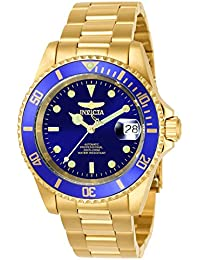 Invicta Pro Diver Men's Analogue Classic Automatic Watch with Stainless Steel Gold Plated Bracelet – 8930OB