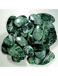 RADHEY KRISHNA GEMS 1751 CTS. WHOLESALE LOT NATURAL GREEN SERAPHINITE MIX CABOCHON GEMSTONE
