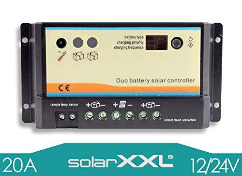 20A Laderegler-PWM 12V/24V - automatische Erkennung - LED - zwei Batterien