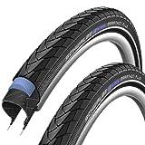 SCHWALBE Marathon Plus Modell 2014 (40-622) 28 x 1,5 Zoll, Set: 2 x Fahrradreifen für Trekking- Crossbike + 2 x Schläuche SV 17