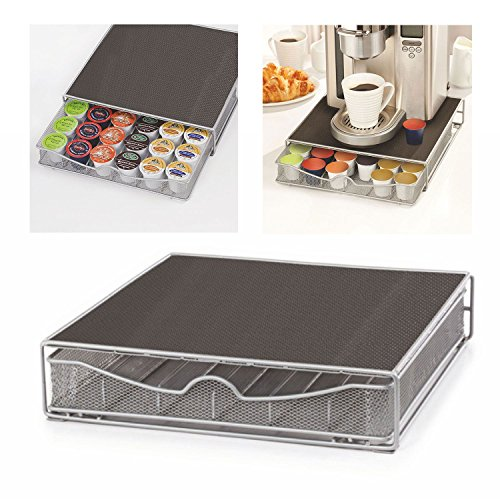 Top Home Solutions Coffee Machine Stand amp; Capsule Pod Holder Storage Drawer for Nespresso amp; Dolce Gusto Capsules