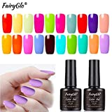 UV Nagellack Gel Shellac Set für Nageldesign Nail Polish Maniküre Set Soak Off UV LED Gel Gellack Gel Farbe von Fairyglo -20pcs Macaron 009(20xStück 8ml)