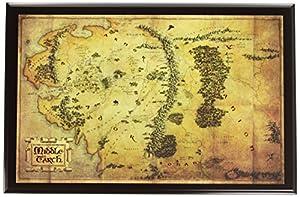 The Noble Collection - Mapa del Señor de los Anillos de la Tierra Media