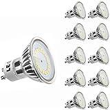 LE MR16 GU10 LED Bulbs, 50W Halogen Bulbs Equivalent, 3.5W, 350lm, Warm White, 3000K, 120° Beam Angle, Recessed Lighting, Track Lighting, LED Light Bulbs, Pack of 10 Units