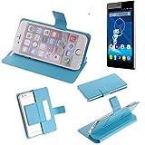 K-S-Trade Flipcover für Haier Voyage V3 Schutz Hülle Schutzhülle Flip Cover Handy case Smartphone Handyhülle blau
