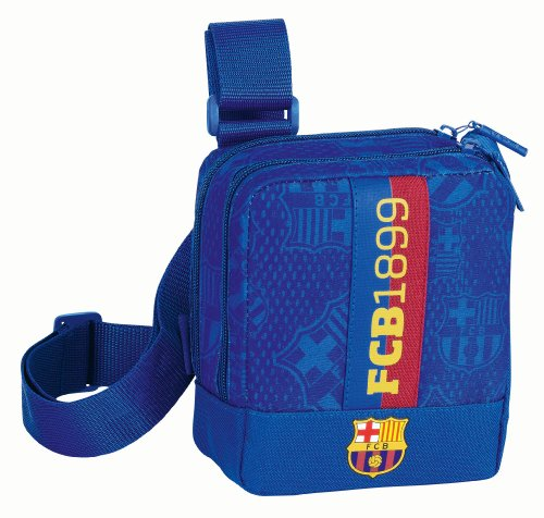 F.C. BARCELONA Mini Shoulder Bag with shoulder strap end and front pocketsApprox length 15cm x height 16cm x depth 6cm Official Licensed Product