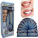 Teeth Whitening Strips - 28 Price Perfect Professional Top Quality Tooth White Strips. Unlike other Stain Removing Teeth Bleaching, Whitening Pens or Whitener Gel these Whiter Smile Strips contain no Peroxide and are non-sensitive. Revolutionary 30 Minute Home Treatment with free shade guide (28)