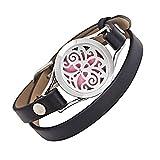 unisex - aroma - öl diffusor armband / duft aus rostfreiem stahl das armband mit ledergürtel (stil 8)