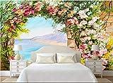 LONGYUCHEN Benutzerdefinierte 3D Seide Wandbild Tapete Ölgemälde Stil Floral Bögen Geeignet Für Schlafzimmer Wohnzimmer Tv Hintergrund Wand Dekoration Wandbild,160Cm(H)×250Cm(W)