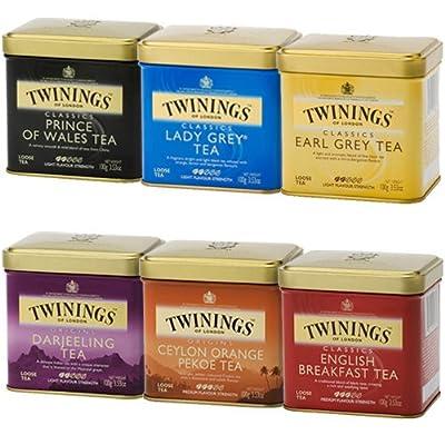 Twinings thé noir en vrac lot de 6