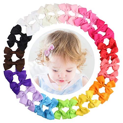 HBF 30 Piezas Lazos Pelo Niña Bebe Cinta Lazo 15 Colores Pinzas...