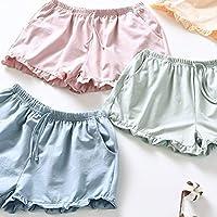 PRETYZOOM Pantalones Cortos Caseros Mujeres Pantalones Cortos de Algodón Casuales Pantalones Cortos de Playa de Verano Pantalones Cortos Sueltos Pantalones Cortos Pijamas para Dama (Talla M Verde)