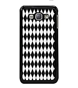 iFasho Animated Pattern of Chevron Arrows royal style Back Case Cover for Samsung Galaxy J1 (2016 Edition)