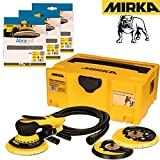 Mirka DEROS Deco Solution Kit Mirka Deros 5650CV Electric Vacuum Sander 125/150mm with 5.0mm Orbit + 30 Abranet Discs Set P80, P120, P180 Grits