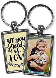 Llavero Amor Personalizado con Foto/Texto/Imagen/Nombre. Llaveros Personalizados 2 Caras. Regalo Original. Var