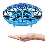 Mini Drones pour Enfants débutant UFO Drone Mini Quadcopter drone de poche Mouvement Main contrôlée Drone Flying Jouets avec lumière LED Cadeaux pour Enfants Adultes