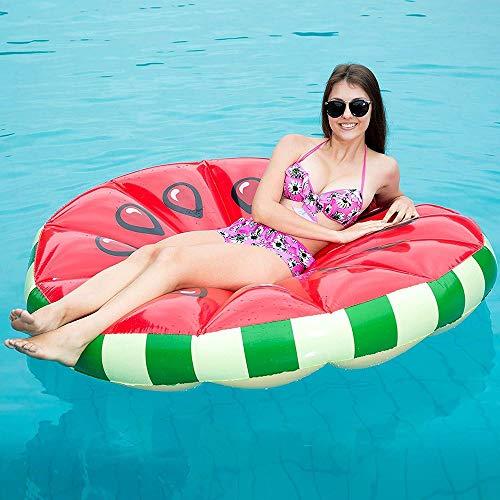 Yikuo Super Runder Wassermelonen-aufblasbarer Hin- Und Herbewegungswagen, Erwachsenes Sich Hin- Und Herbewegendes Bett, Sommer-Ufer-Pool Eco-ausgeglichenes Spielzeug, 160 * 160CM Wunderschönen