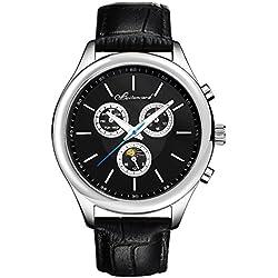 Men's style leather strap watch/Sports waterproof watch/Business mens watch-D