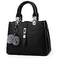 Sweet and Stylish fringed hair ball decorative leisure handbag Messenger bag for women WB79