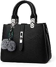 Sweet and Stylish fringed hair ball decorative leisure handbag Messenger bag for women
