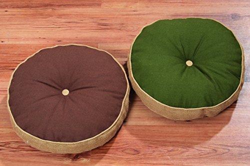 Meditationskissen Yogakissen rundes Sitzkissen Bodenkissen D45 cm braun