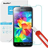 Samsung Galaxy S5 Mini Panzerglas, Bestwe Schutzglas 0,3mm 9H Gehärtetem Glas Displayschutzfolie (Samsung Galaxy S5 Mini Panzerglas)