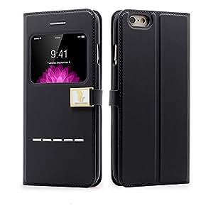 """Hello Deere ''Ailun'' iPhone 6 (4.7"""") Premium Sac Enveloppe de protection dans le style du livre, Boîte pour téléphone portable pour iPhone 6 Étui flip - noir"""
