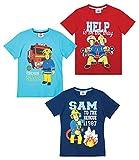 Feuerwehrmann Sam Jungen T-Shirt (Hellblau, 110)