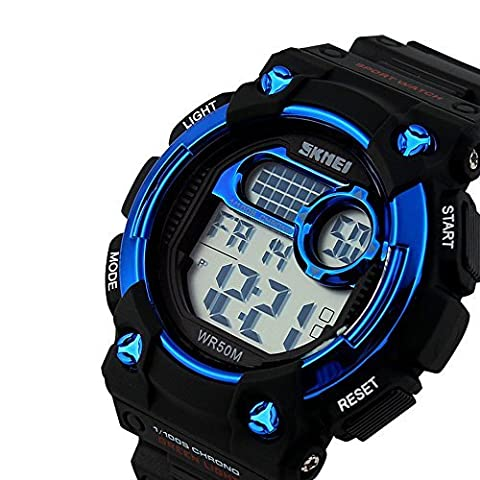 TTLIFE 1054 Unisexe Multi Function Quartz numérique LED Watch résistant à l