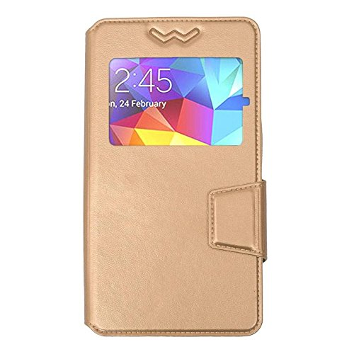 Shopme Premium Leather Flip cover for Micromax Bolt A71 (GOLDEN COLOR)  available at amazon for Rs.259