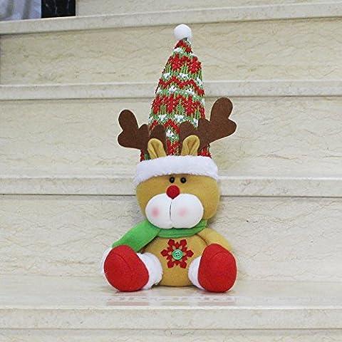 KMDJ seduta deer nuovo pupazzo figurina Ornamenti natale Santa regalo di Natale ornamento di Natale,Elk