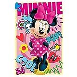 Kids Decke Fleece, Minnie, Rosa, 100x 3x 150cm