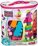 Mega Bloks Sac Rose, briques et jeu de construction, 60 pièces, jouet pour bébé et enfant de 1 à 5 ans, DCH54