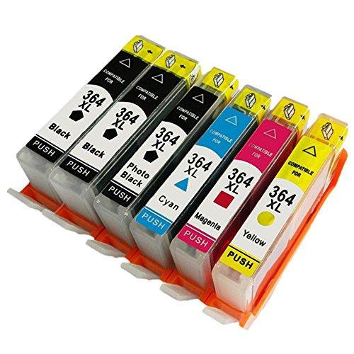 Preisvergleich Produktbild Generisch 5 Farbe Kompatible Tintenpatronen Ersatz für HP 364XL 364 XL für HP364 für HP364XL Tintenpatronen Hohe Kapazität kompatibel für HP Photosmart 5510 5511 5512 5514 5515 5520 5522 5524 6510 6520 6512 6515 7510 7520 7515 B8550 B8558 C5370 C5373 C5324 C6388 D5460 D5463 B110a B110c B010a B010b B111a B109a B109b C309a C309c B209a B210a HP Deskjet 3070A Tintenpatronen für Inkjet Drucker (2 Grossen Schwarz,1 Klein Schwarz,1 Cyan,1 Magenta,1 Gelb,1 Grau)
