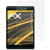 atFolix Panzerfolie kompatibel mit HP Pro Tablet 608 G1 Schutzfolie, entspiegelnde & stoßdämpfende FX Folie (2X)